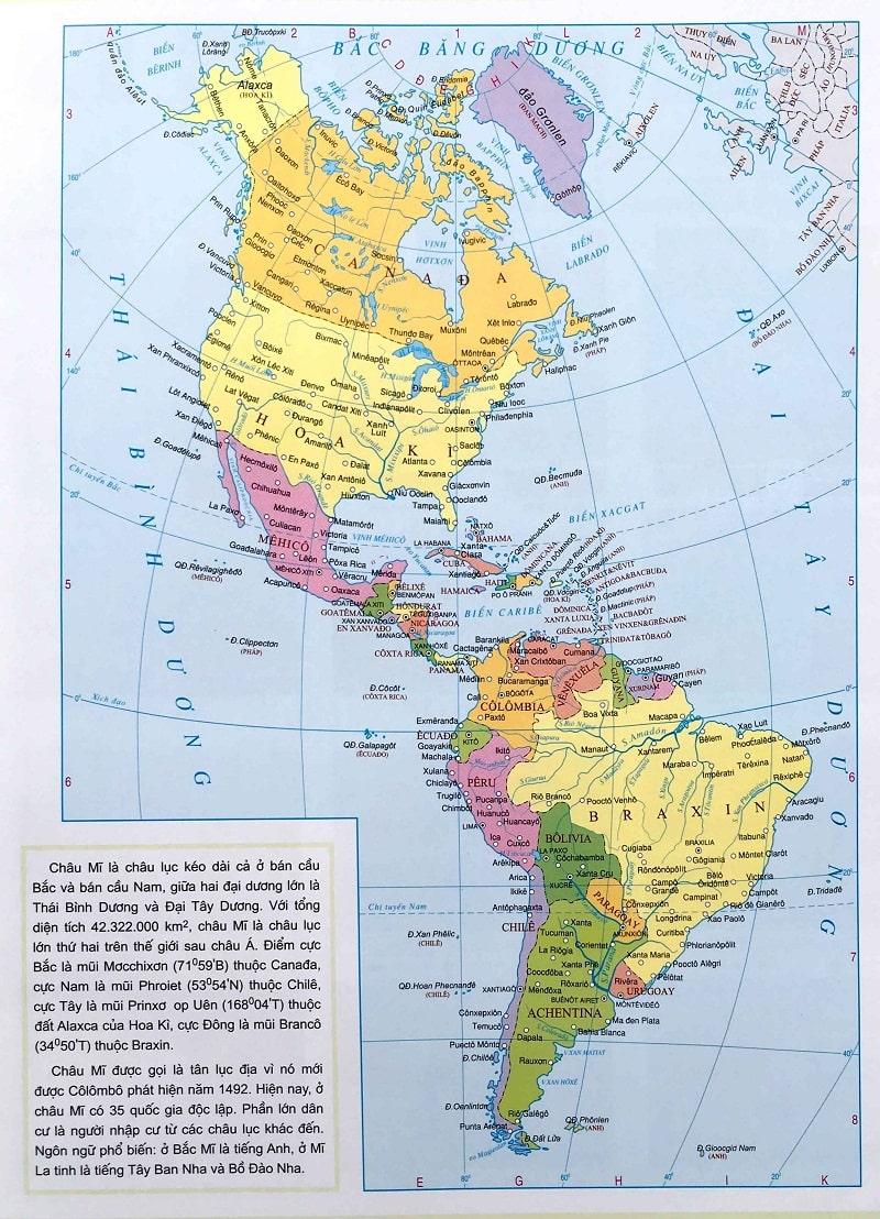 danh sách các quốc gia châu mỹ