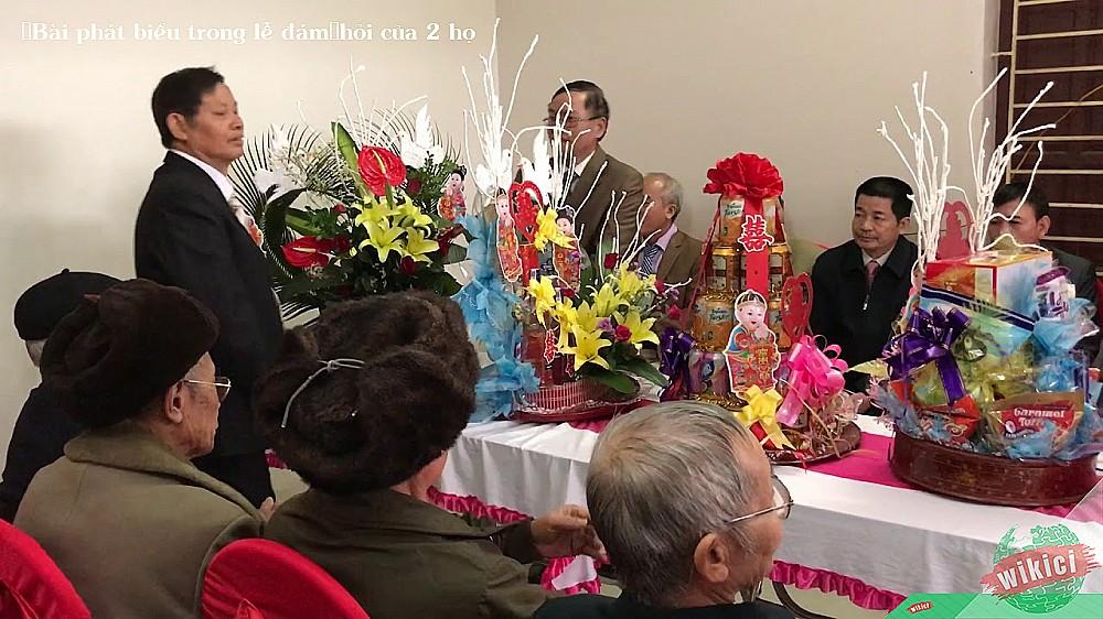 Bài phát biểu trong lễ đámhỏi của 2 họ