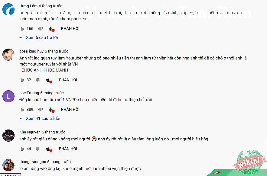 Comment Youtube về Tâm Ròm