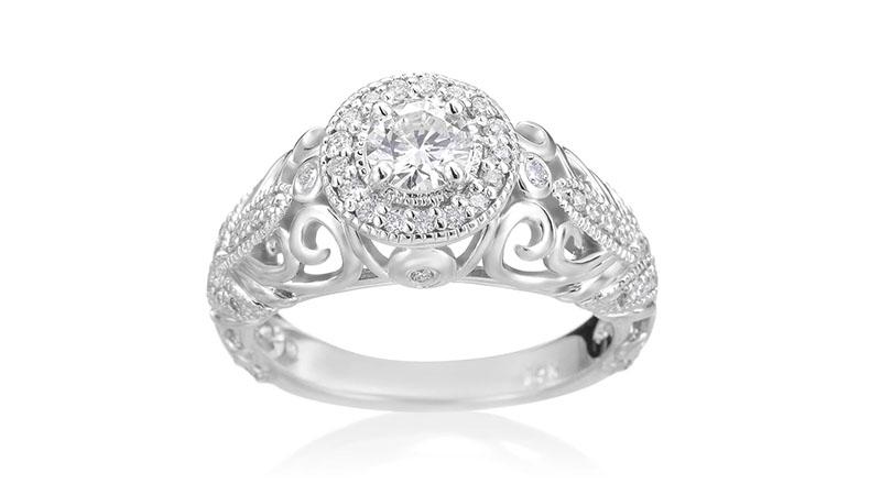 Nhẫn đính hôn Baroque