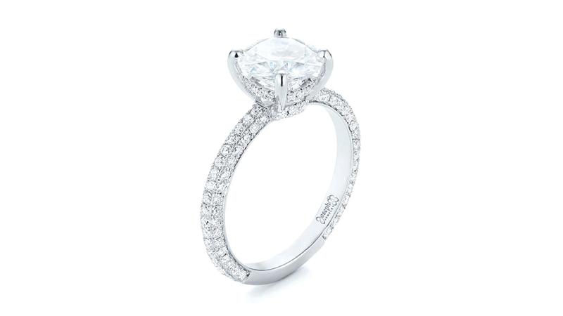 Nhẫn kim cương Pavé