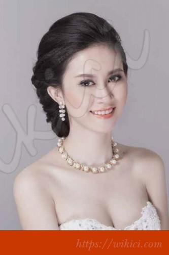 Bới tóc kiểu Hàn Quốc cho cô dâu tóc lỡ-10