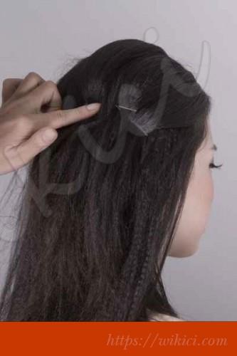 Bới tóc kiểu Hàn Quốc cho cô dâu tóc lỡ-2