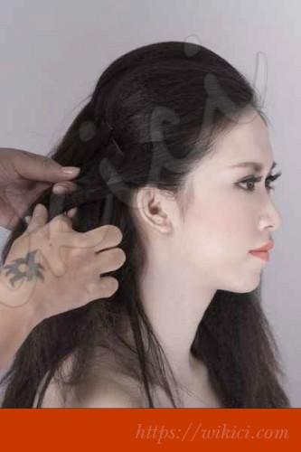 Bới tóc kiểu Hàn Quốc cho cô dâu tóc lỡ-3