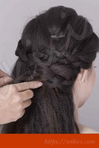 Bới tóc kiểu Hàn Quốc cho cô dâu tóc lỡ-4