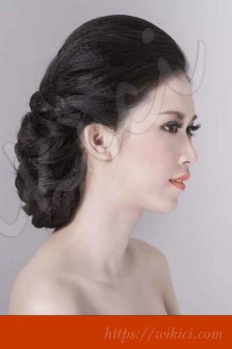 Bới tóc kiểu Hàn Quốc cho cô dâu tóc lỡ-8