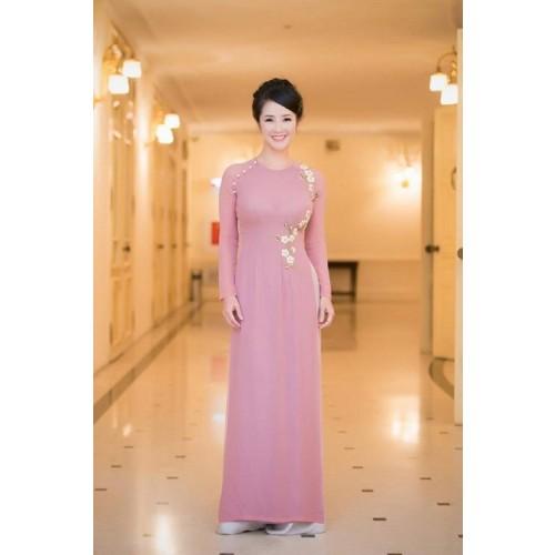 Những mẫu áo dài cho mẹ cô dâu 2019 đẹp, sang trọng nhất-4