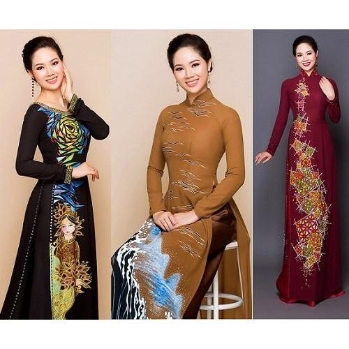 Những mẫu áo dài cho mẹ cô dâu 2019 đẹp, sang trọng nhất-5