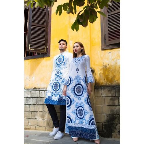 Những mẫu áo dài cưới cách tân đẹp cho cô dâu chú rể năm 2019-6