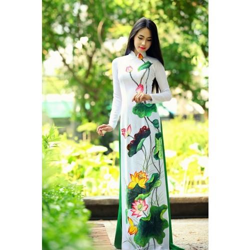 Những mẫu áo dài cưới truyền thống 2019 đẹp, sang trọng nhất-11