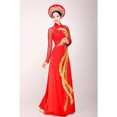 Những mẫu áo dài cưới truyền thống 2019 đẹp, sang trọng nhất-14