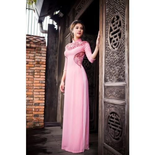 Những mẫu áo dài cưới truyền thống 2019 đẹp, sang trọng nhất-3