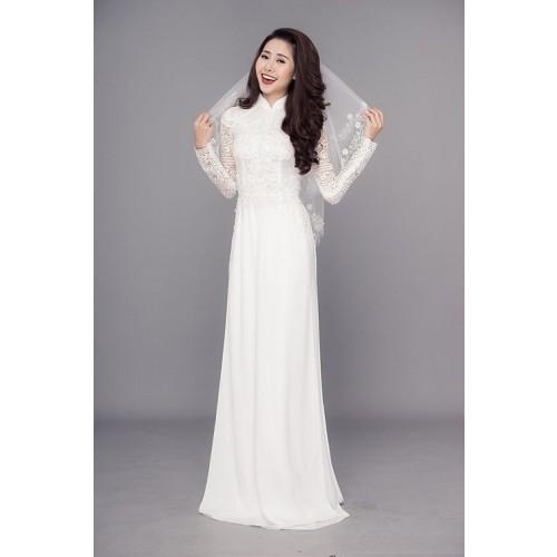 Những mẫu áo dài cưới truyền thống 2019 đẹp, sang trọng nhất-4