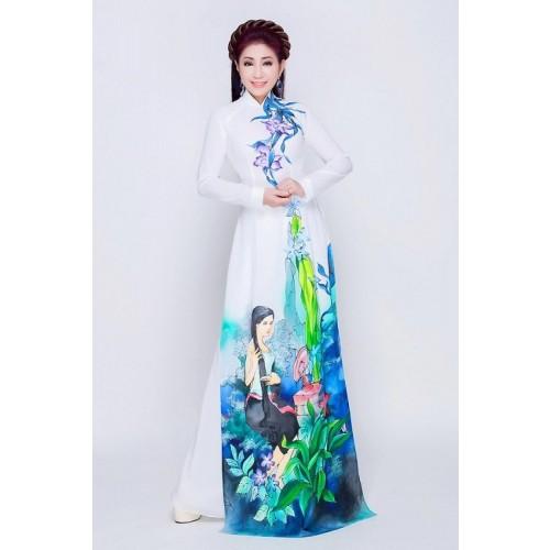 Những mẫu áo dài cưới truyền thống 2019 đẹp, sang trọng nhất-6
