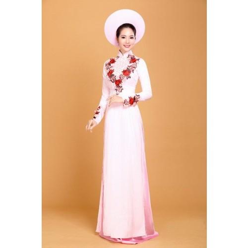 Những mẫu áo dài cưới truyền thống 2019 đẹp, sang trọng nhất-7