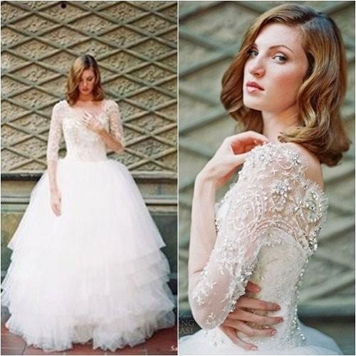 Những mẫu váy cưới công chúa giúp cô dâu đẹp tựa thiên thần-16
