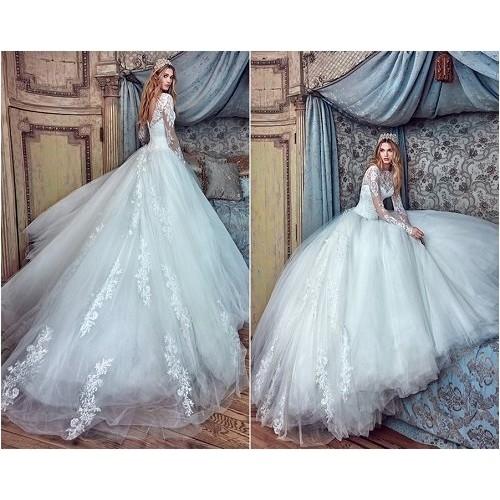Những mẫu váy cưới công chúa giúp cô dâu đẹp tựa thiên thần-4