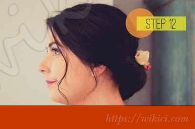 Cách bới tóc cô dâu dịu dàng với hoa-12