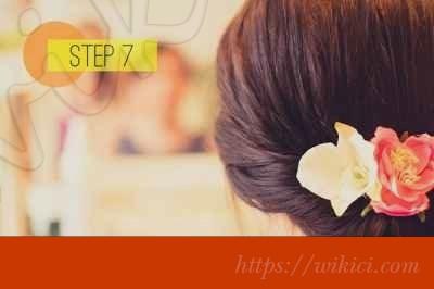 Cách bới tóc cô dâu dịu dàng với hoa-7