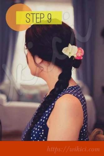 Cách bới tóc cô dâu dịu dàng với hoa-9