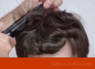 Cách bới tóc đơn giản cho cô dâu tóc ngắn-2