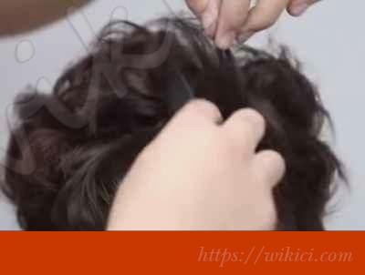 Cách bới tóc đơn giản cho cô dâu tóc ngắn-3
