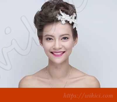 Cách bới tóc đơn giản cho cô dâu tóc ngắn-6
