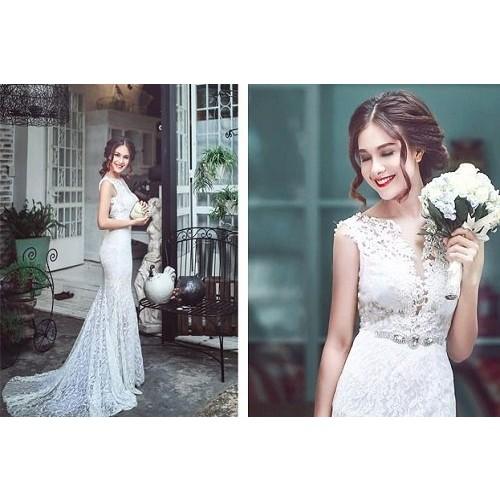 Cách chọn váy cưới cho cô dâu gầy xinh đẹp ngày cưới-1