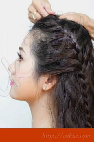 Cách làm tóc đơn giản cho cô dâu tại nhà-2