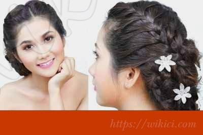 Cách làm tóc đơn giản cho cô dâu tại nhà-6