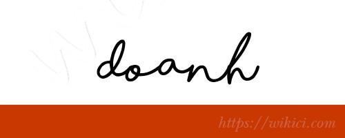 Chữ ký tên Doanh – Những mẫu chữ ký tên Doanh đẹp nhất-11