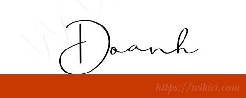 Chữ ký tên Doanh – Những mẫu chữ ký tên Doanh đẹp nhất-5