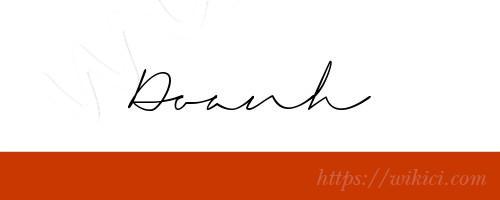 Chữ ký tên Doanh – Những mẫu chữ ký tên Doanh đẹp nhất-7