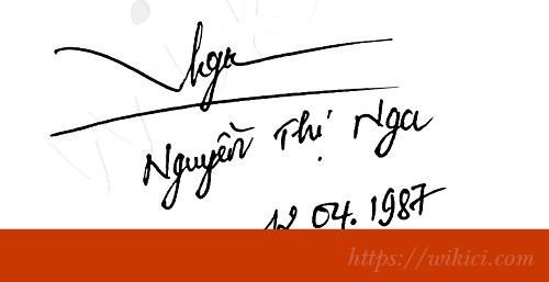 Chữ ký tên Nga – Những mẫu chữ ký tên Nga đẹp nhất-2