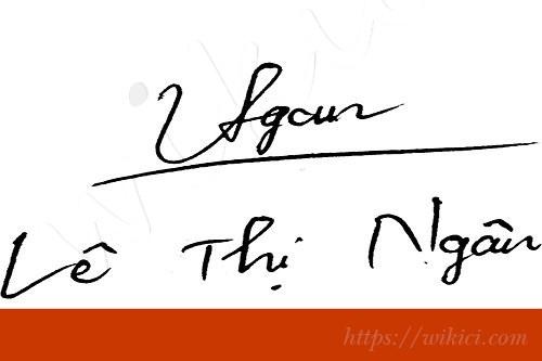 Chữ ký tên Ngân – Những mẫu chữ ký tên Ngân đẹp nhất-1