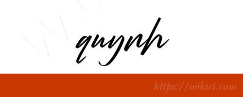 Chữ ký tên Quỳnh – Những mẫu chữ ký tên Quỳnh đẹp nhất-4