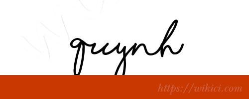 Chữ ký tên Quỳnh – Những mẫu chữ ký tên Quỳnh đẹp nhất-5