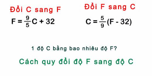 1 độ C bằng bao nhiêu độ F? Cách quy đổi độ F sang độ C