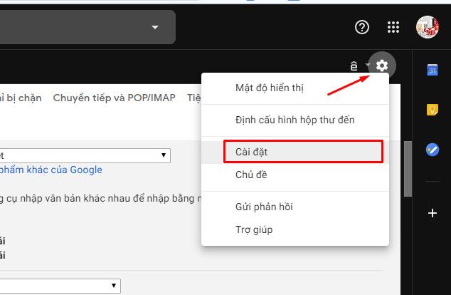 Cách tạo chữ ký trong Gmail - Bước 1
