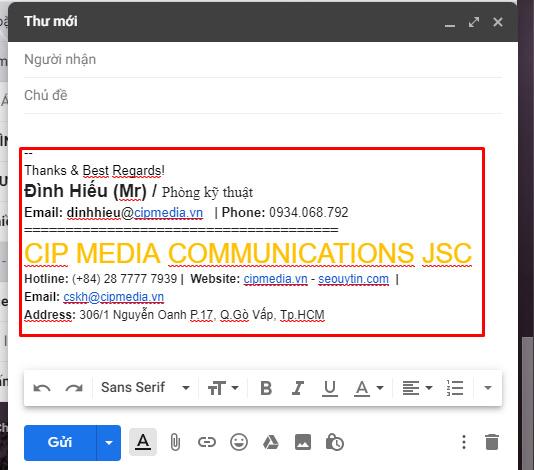 Cách tạo chữ ký trong Gmail một cách đơn giản chuyên nghiệp