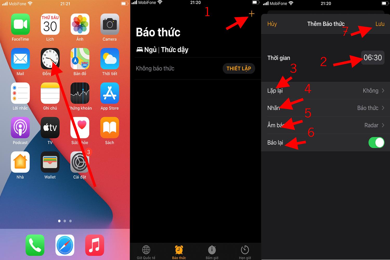 Cách Đặt Báo Thức Trên Điện Thoại Iphone