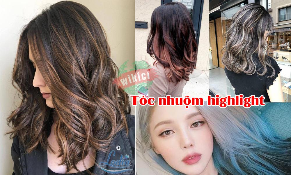 Kiểu tóc nhuộm highlight