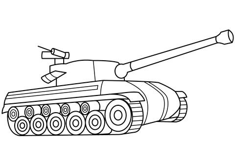 Những bộ tranh tô màu xe tăng dành cho bé