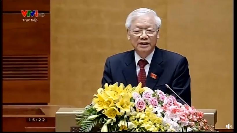 Phát biểu nhậm chức của Chủ Tịch nước Nguyễn Phú Trọng