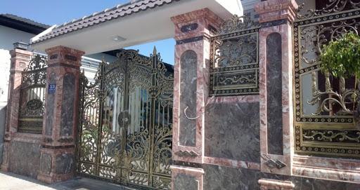 Sơn giả đá cho cổng nhà