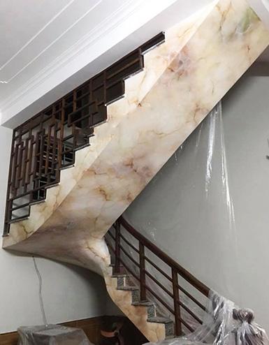 Sơn giả đá cho cầu thang