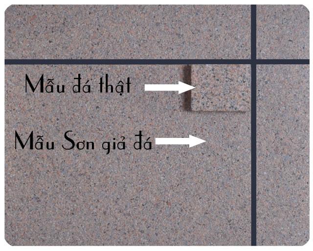 So sánh sơn giả đá với đá hoa cương thật