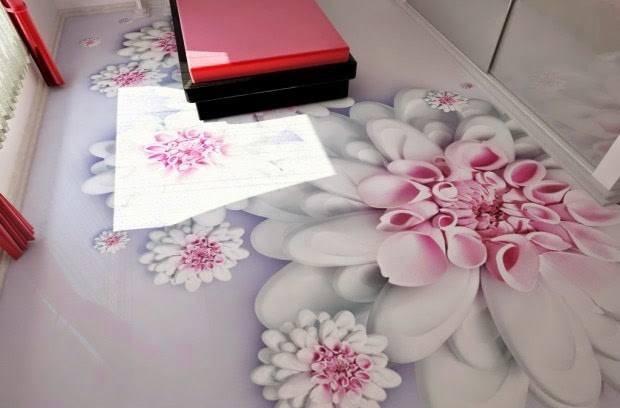 Sơn giả đá 3D họa tiết hoa