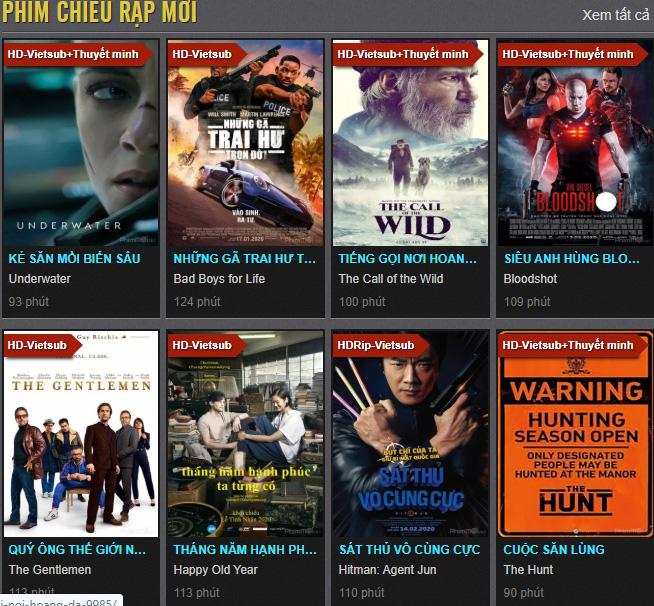 Web xem phim Phimmoi.net